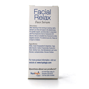 Episilk Facial Relax Face Serum with Hyaluronic Acid & Argireline - 1 oz