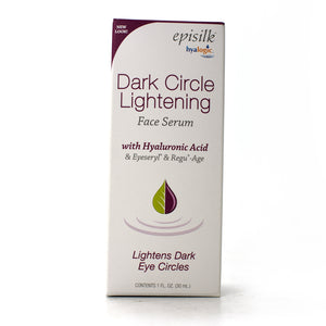 Episilk Dark Circle Lightening Face Serum With Hyaluronic Acid & Eyeseryl & Regu-Age - 1 oz