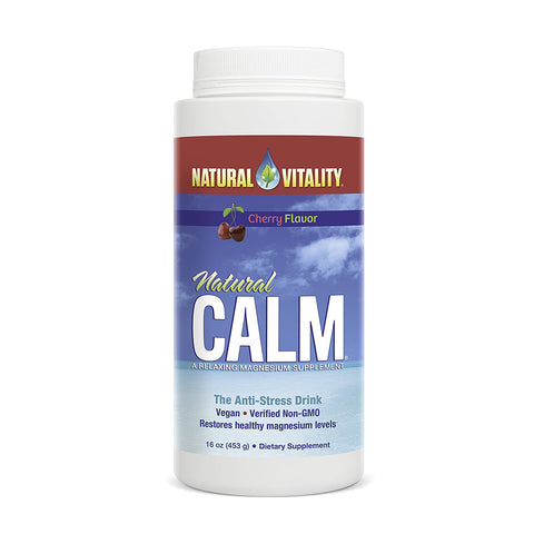 Natural Calm Anti-Stress Drink Cherry Flavor - 16 oz