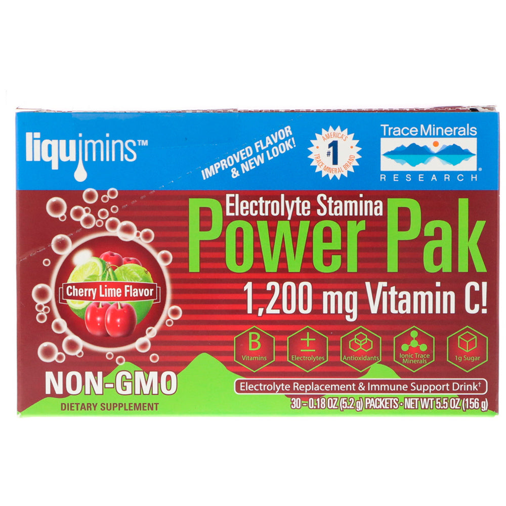 Electrolyte Stamina Power Pak Non-GMO Cherry Lime - 30 Packets