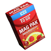 Load image into Gallery viewer, To Go MAG PAK 350mg Magnesium Citrus Raspberry Flavor - 15 Packets
