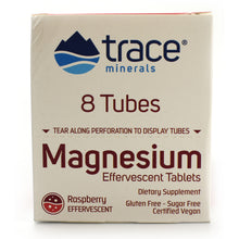 Load image into Gallery viewer, Magnesium Effervescent Tablets Raspberry Flavor - 8 Tubes of 10 Tablets Each