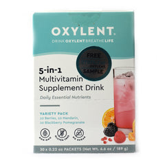 Oxylent Multivitamin Supplement Drink 5-in-1 Formula Variety Pack - 30 Packets