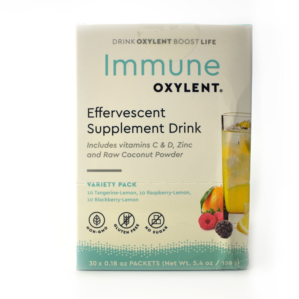 Immune Oxylent Effervescent Supplement Drink Variety Pack - 30 Packets