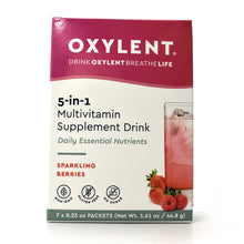 Load image into Gallery viewer, WHOLESALE Oxylent 5-in-1 Multivitamin Supplement Drink Sparkling Berries Flavor - 7 Packets