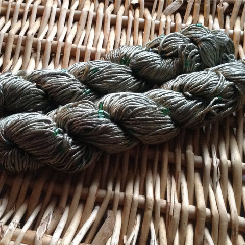 Luxury silk beaded yarn