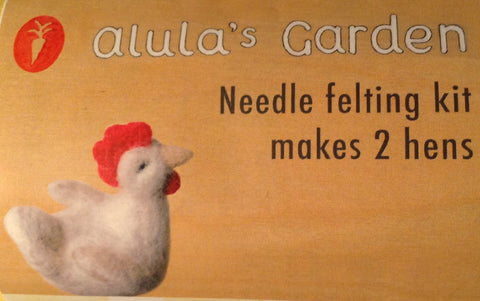 Alulah's Garden needle felting kit - makes 2 chickens