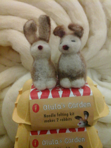 Alulah's Garden needle felting kit - makes 2 rabbits