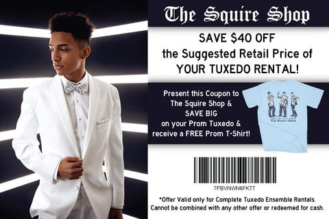$40 Off Tuxedo Coupon | The Squire Shop