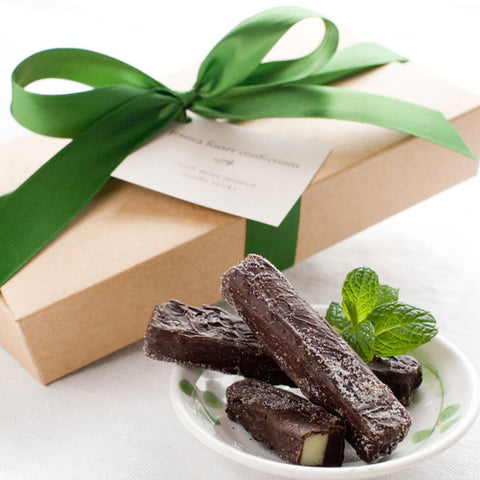 Box of 11 mint infused truffle sticks