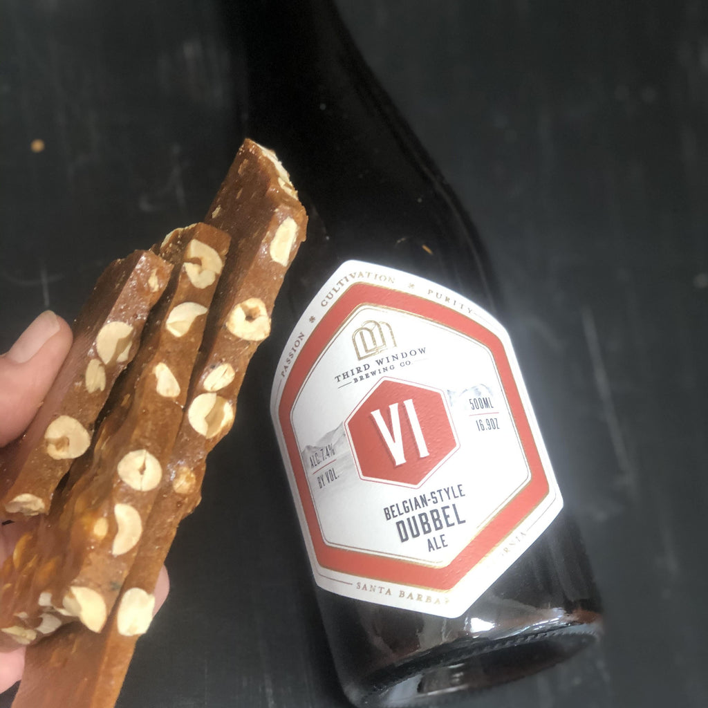 peanut-sage beer brittle
