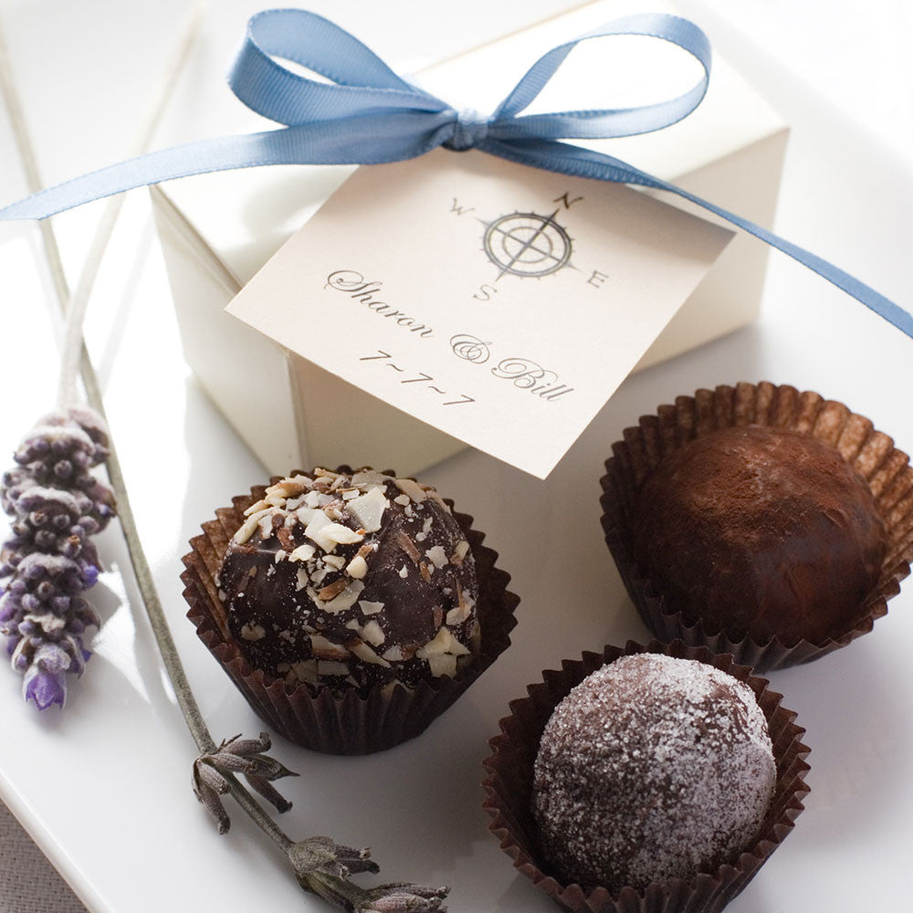 Favor Boxes 2 or 4 Truffles Jessica Foster Confections