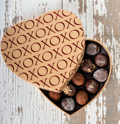 19 Piece Heart Shaped Box of Truffles