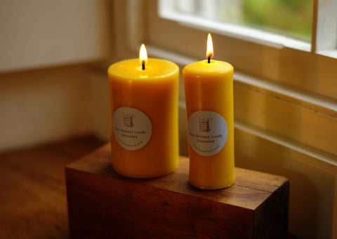 hand poured pure beewax candles Brookfield Farm