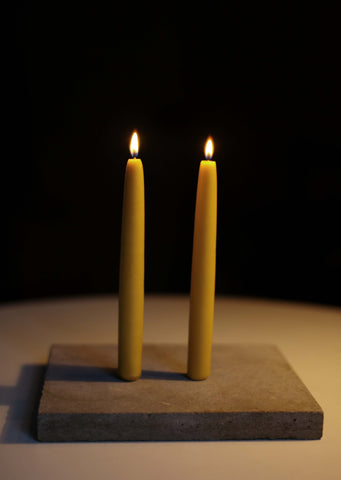 Brookfield Farm hand dipped pure beeswax candles