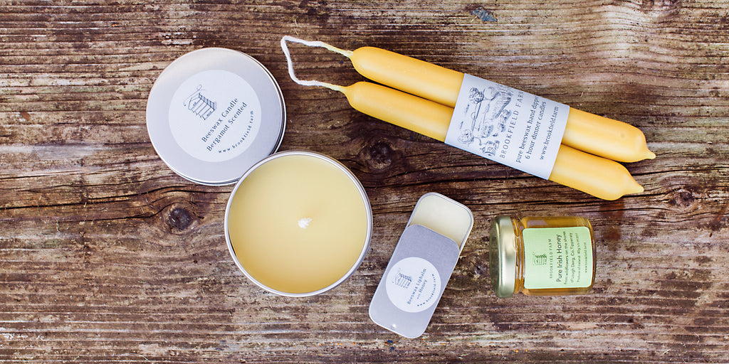 brookfield farm hive gifts beeswax candles raw irish honey