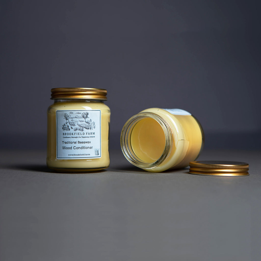 2 jar Set - Traditional Beeswax Wood Conditioner + Traditional Beeswax Furniture Polish