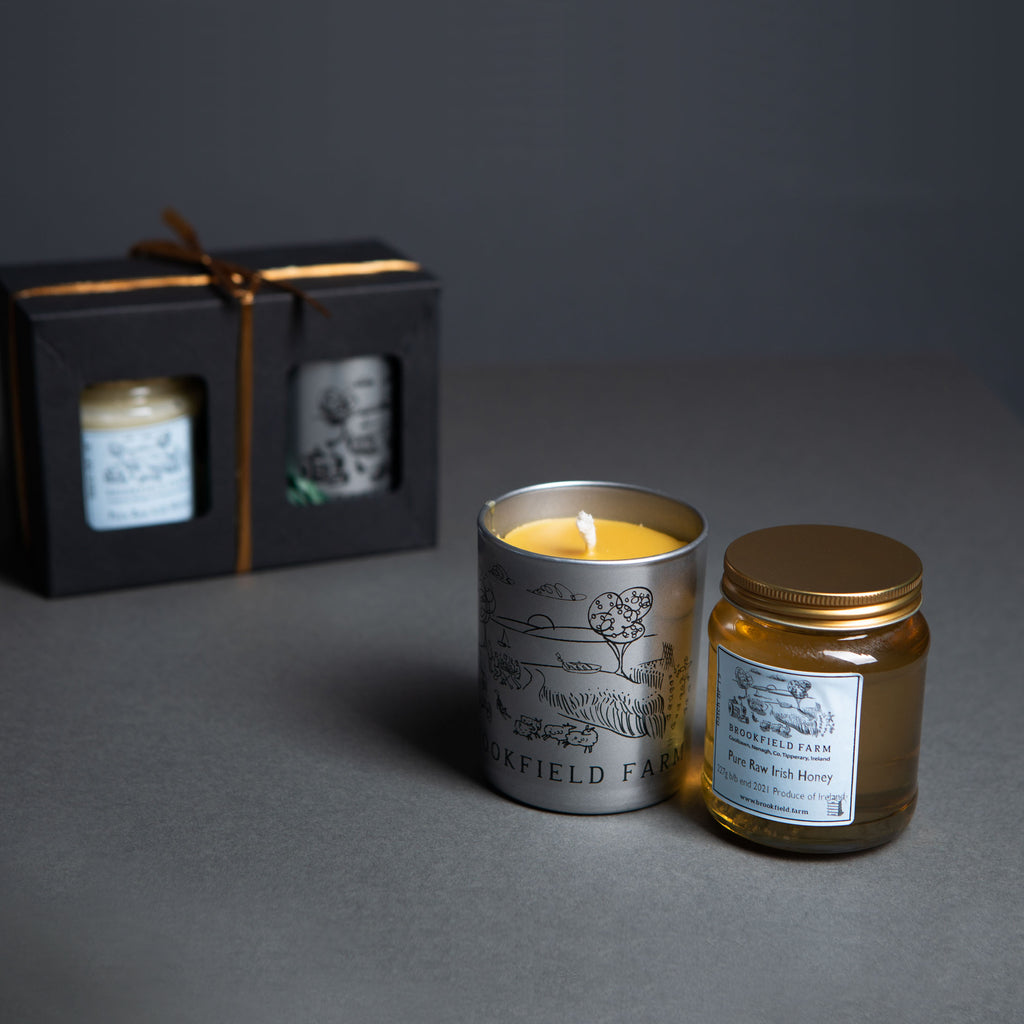 Honey and Scented Beeswax Candle Gift Set