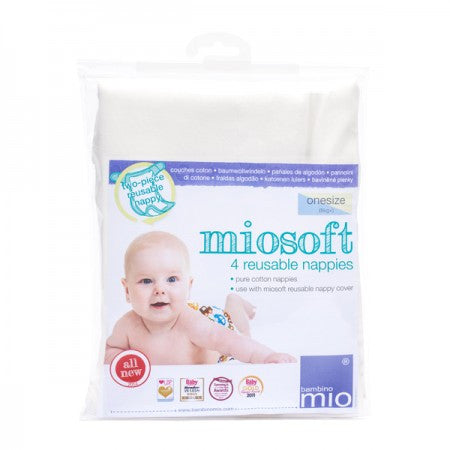 Miosoft Reusable Nappy Onesize (4 Pack)