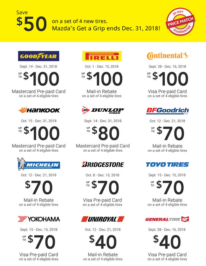 Canada Winter Tire Rebate List 2018