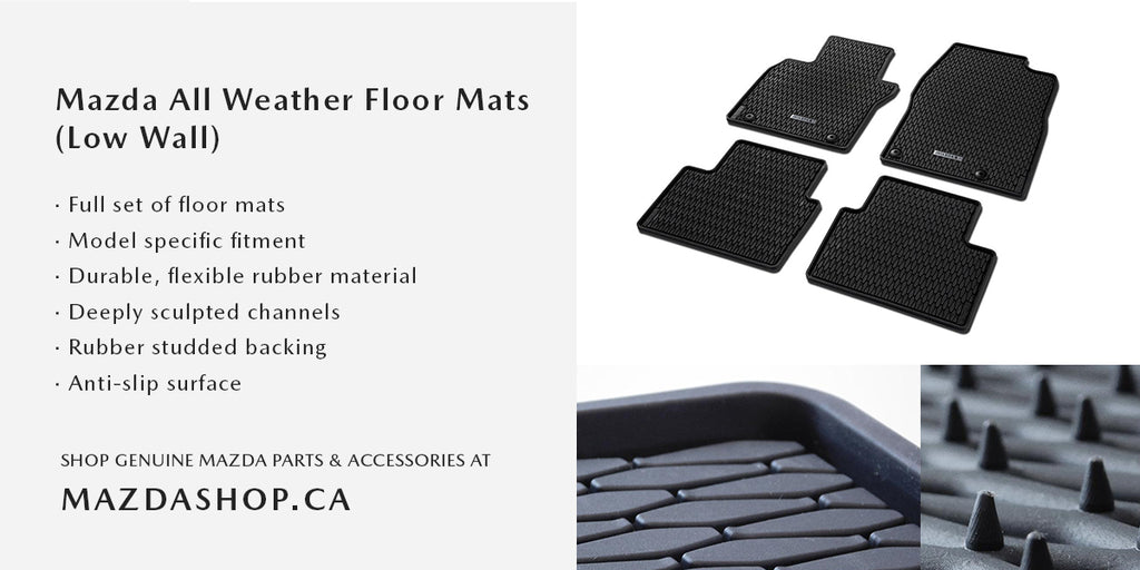 MazdaShop - Mazda All Weather Floor Mats Low Wall Design and Features
