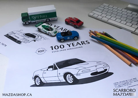 MazdaShop Scarboro Mazda Colouring Sheets