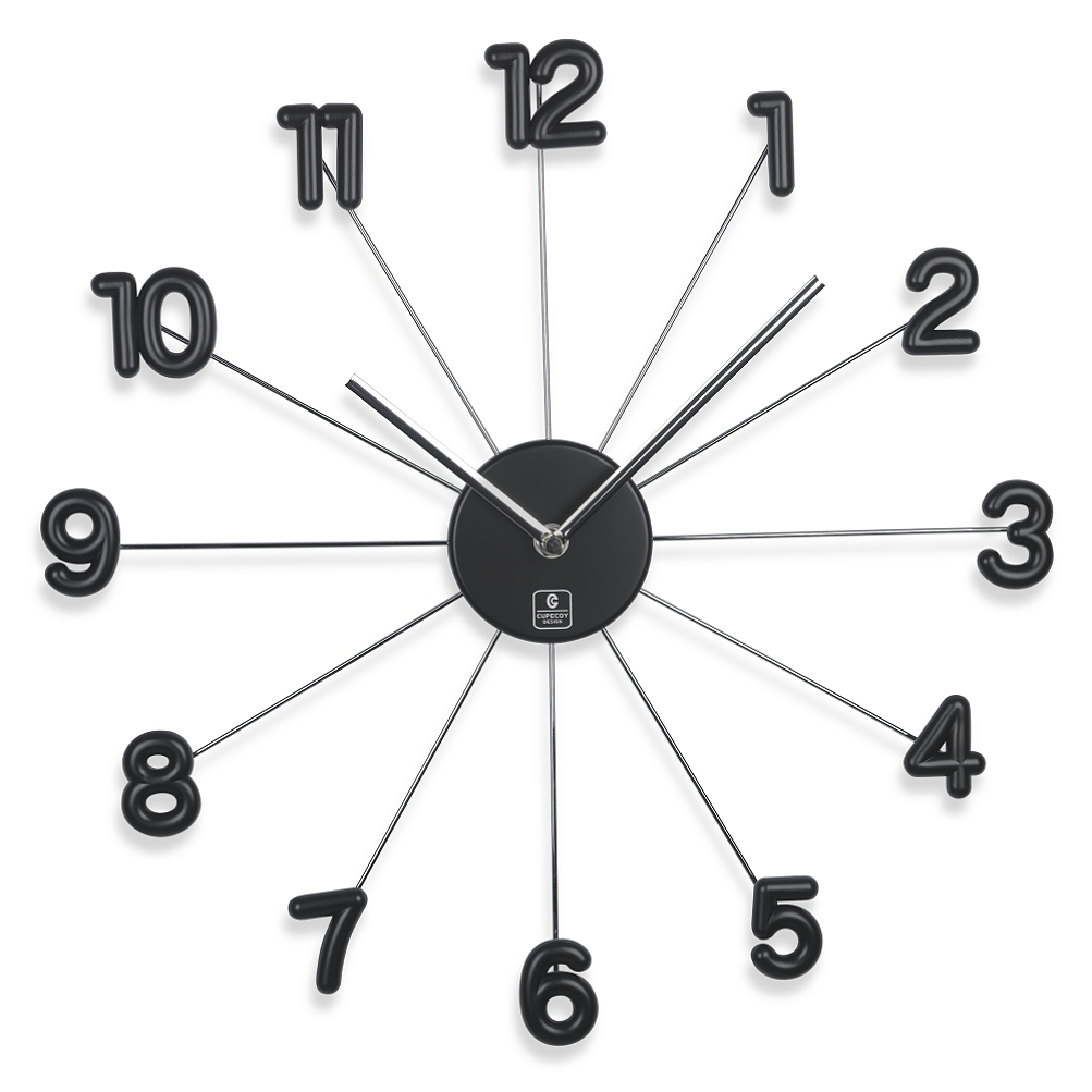 Home Goods Wall Clocks cupecoy design 16-inch spike wall clock with aluminum hands – home