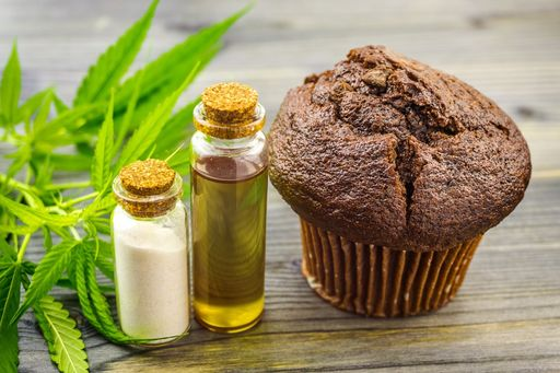 Cannabis THC Infused Muffin