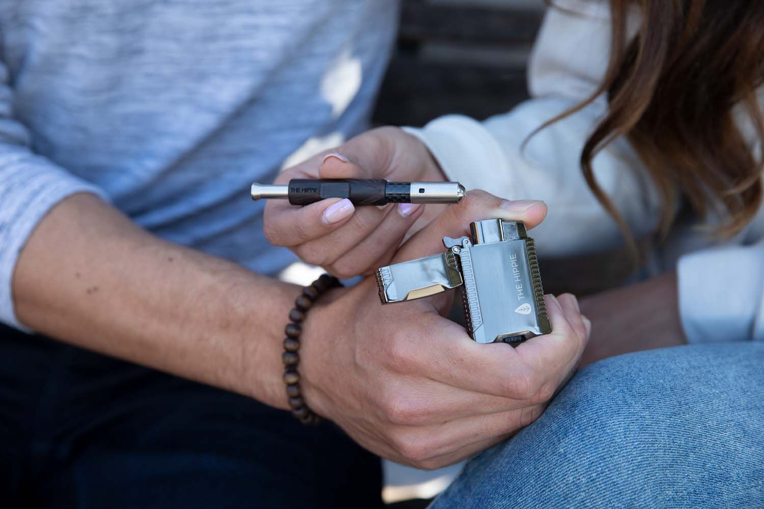 The Hippie Double Jet Flame Torch Windproof lighter