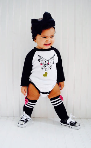 Gwen Love Charm Necklace Long Sleeve Bodysuit
