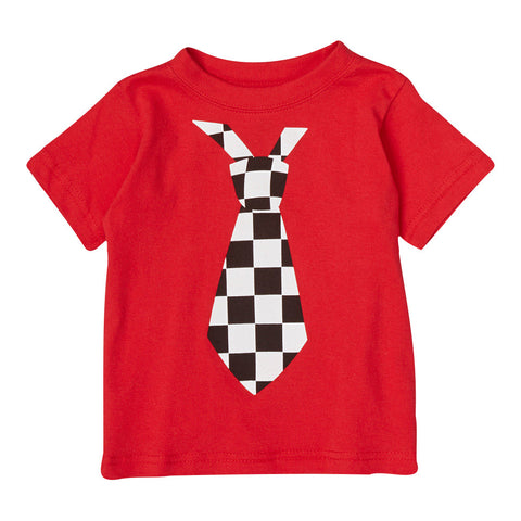 Ace Checkered Tie Tee