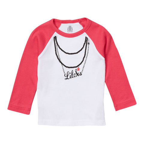Lil Sis Necklace Raglan Tee