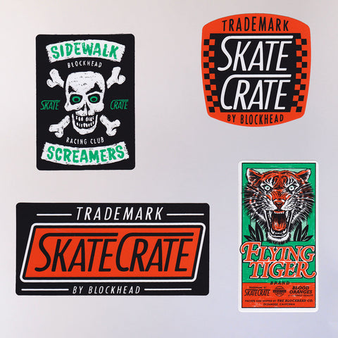Skate Crate Assorted Sticker Pack