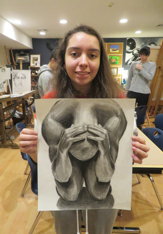 Teen Graphite & Charcoal Drawing