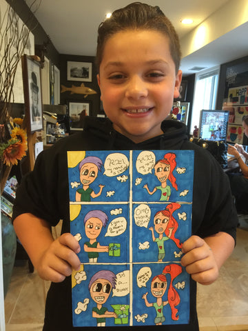 Kids Comic Art