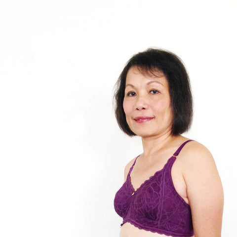 Mom wearing Sophia Rose Mastectomy Bra