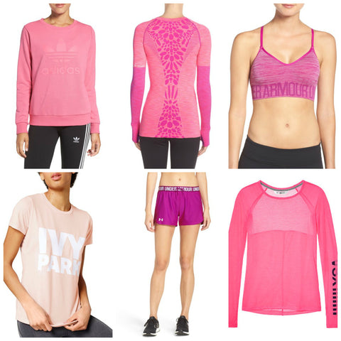 Breast Cancer Pink Workout Clothes