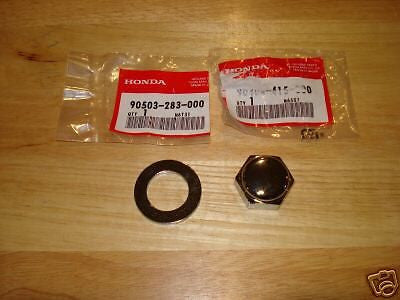 Honda Z50 CT70 SL100 SL125 CB100 ATC70 stem nut & washer OEM