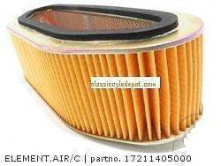 Honda CB750 CB750K CB750F CB750A  air filter OEM