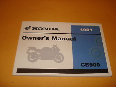 Honda  CB900 CB900C CB 900 Owners Manual 1981