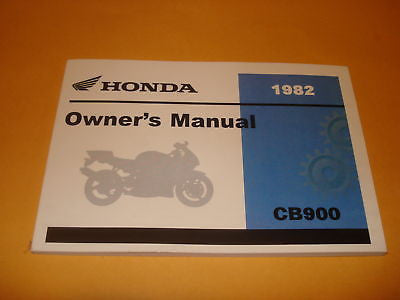 Honda  CB900 CB900C CB 900 Owners Manual 1982
