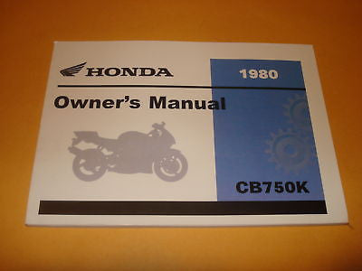 Honda  CB750 CB750K  CB 750 Owners Manual 1980