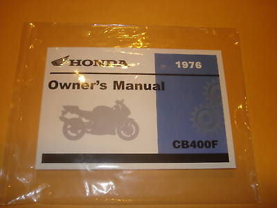 Honda CB400F CB 400F  CB400 F  Owners Manual 1976