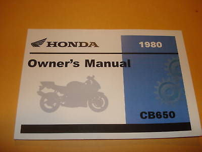 Honda  CB650 CB650C CB 650 Owners Manual 1980