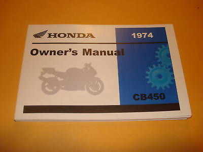 Honda  CB450  CB 450 K7 Owners Manual 1974