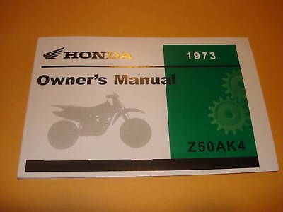 Honda Z50 Z50A  Z 50    Owners Manual 1973