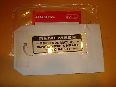 Honda XR75 XL70 Z50 PA50 CT70 CT90 TL125 tank label OEM