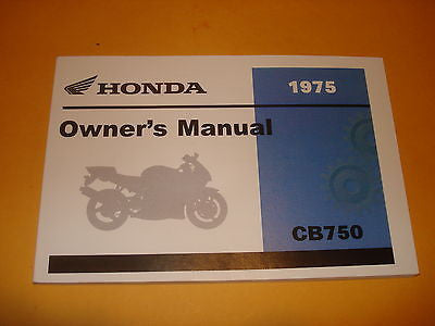 Honda  CB750 CB750K  CB 750 Owners Manual 1975