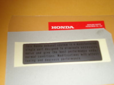 Honda C70 CB100 CL100 CB160 CB175 CB200 CB200T CB350 CB360 CJ360T caution label