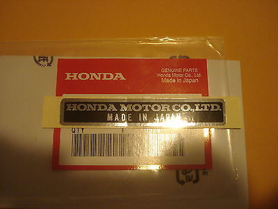 Honda QA50 ATC70 TL125 CA175 CB160 CL160 CL175 CB175 MR175  name plate label OEM
